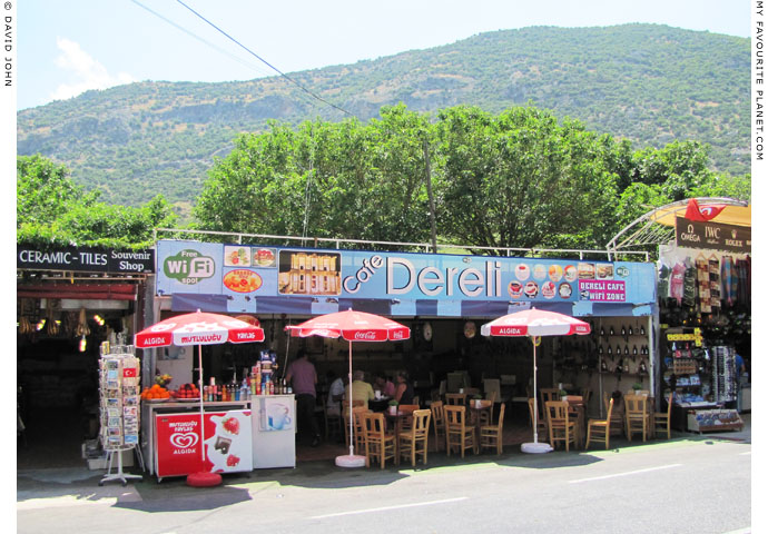 One of the cafes near the upper entrance to Ephesus at My Favourite Planet