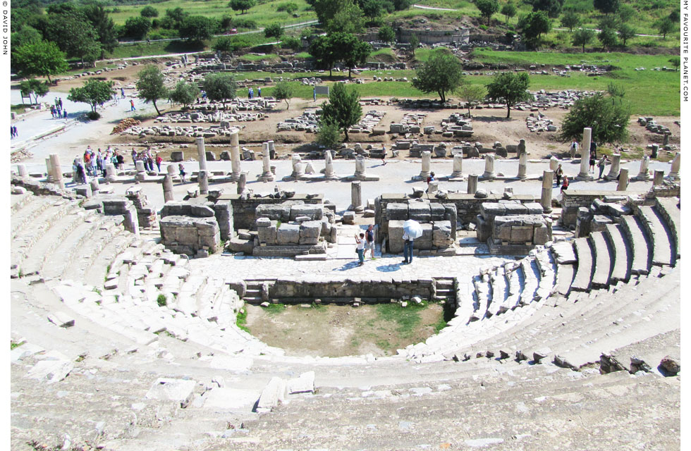 The stage area of the Ephesus Odeion from the top of the seating area at My Favourite Planet