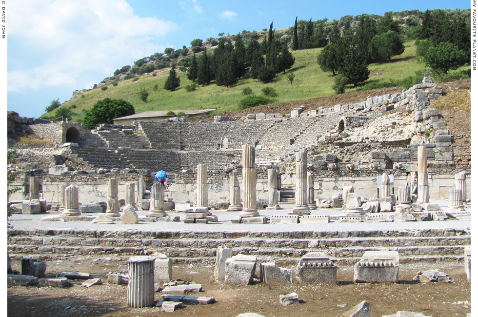 The Odeion or Bouleuterion from the south side of the Agora Basilica at My Favourite Planet