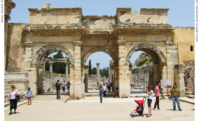 The Gate of Mazeus and Mithridates to the Lower (Commercial) Agora, Ephesus, Turkey at My Favourite Planet