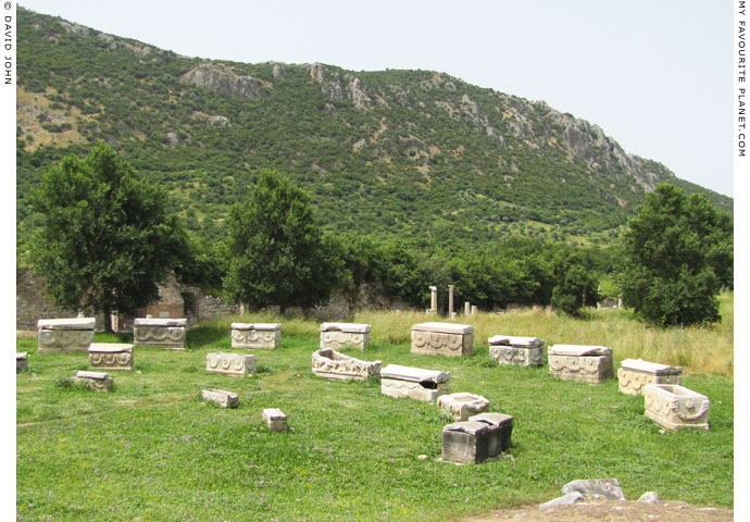 Ancient sarcophagi near the Arcadian Way, Ephesus at My Favourite Planet