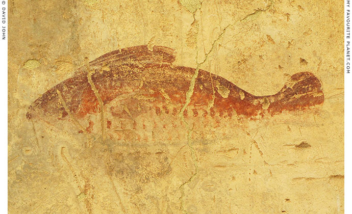 Fish fresco in the Terrace Houses, Ephesus at My Favourite Planet