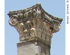 A composite capital of a pillar in the Lower Agora, Ephesus at My Favourite Planet