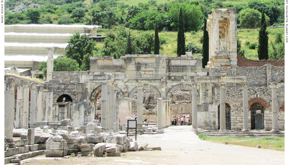 The back (north side) of the Gate of Mazeus and Mithridates, Ephesus at My Favourite Planet