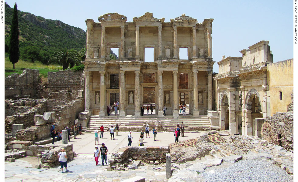 The Library of Celsus and the Gate of Mazeus and Mithridates, Ephesus at My Favourite Planet