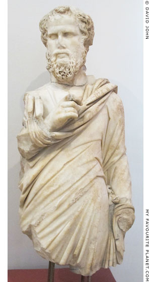 A marble statue of a Sophist from Ephesus at My Favourite Planet