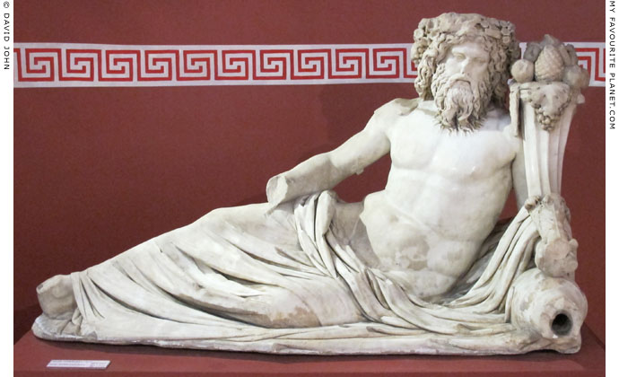 A marble statue of a river god from Ephesus at My Favourite Planet