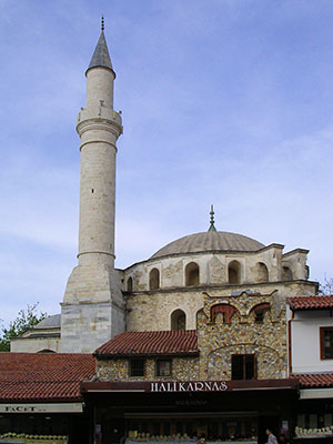 Kale Ici Mosque, Kusadasi, Turkey, built in 1618 by Grand Vizier Öküz Kara Mehmed Pasha