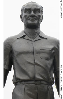 Sculpture of Kemal Atatürk in Kusadasi harbour, Turkey at My Favourite Planet