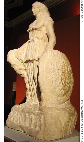 The left side of the Lenormant Athena statuette at My Favourite Planet