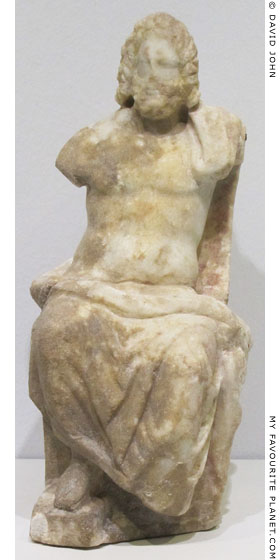Marble figurine of enthroned Asklepios from the Pergamon Asclepieion at My Favourite Planet