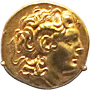 Gold stater of Lysimachus at My Favourite Planet