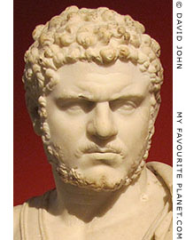 Marble bust of Roman Emperor Caracalla at My Favourite Planet