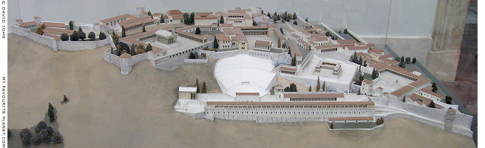 Model of the Pergamon Acropolis in the Pergamon Museum, Berlin at My Favourite Planet