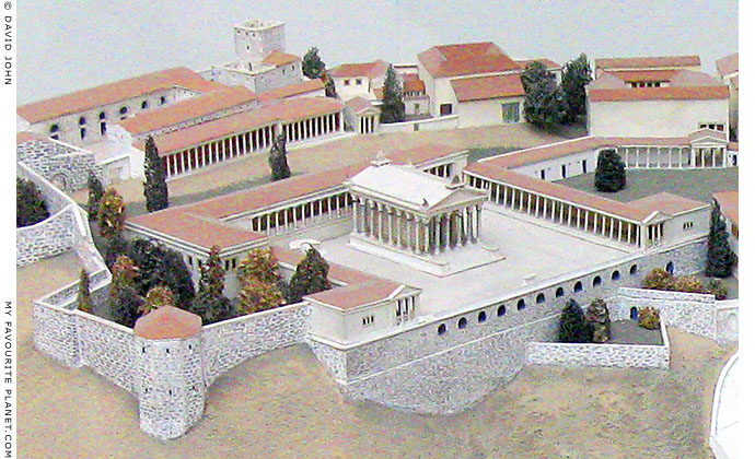 Model of the Temple of Trajan on the Pergamon Acropolis, Pergamon Museum, Berlin at My Favourite Planet