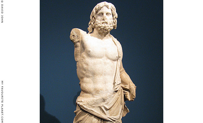 Statue of Poseidon from the Great Altar of Zeus, Pergamon, Turkey at My Favourite Planet