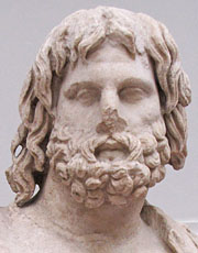 The head of the Pergamon statue of Poseidon at My Favourite Planet