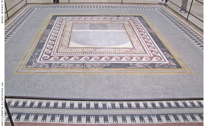 The reconstructed floor mosaic from the Northwest Room of Pergamon Palace V at My Favourite Planet