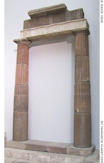 Andesite columns with entablature from the porticos of the Upper Agora of Pergamon at My Favourite Planet