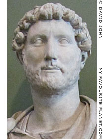 Bust of Roman Emperor Hadrian at My Favourite Planet