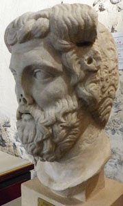 Head of Zeus Ammon in Catania Museum at My Favourite Planet