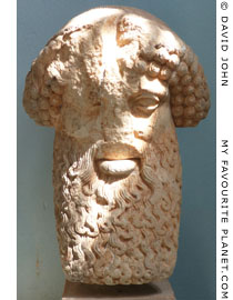 Head of a herm in Eleusis at My Favourite Planet