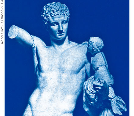 Statue of Hermes carrying the infant Dionysos in Olympia Archaeological Museum, Greece at My Favourite Planet
