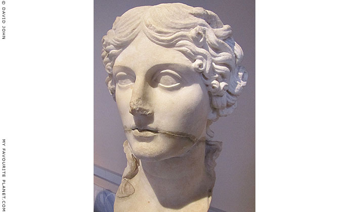 Marble head of Roman matron Agrippina the Elder at My Favourite Planet