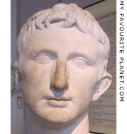 Marble bust of Roman Emperor Augustus from Pergamon at My Favourite Planet