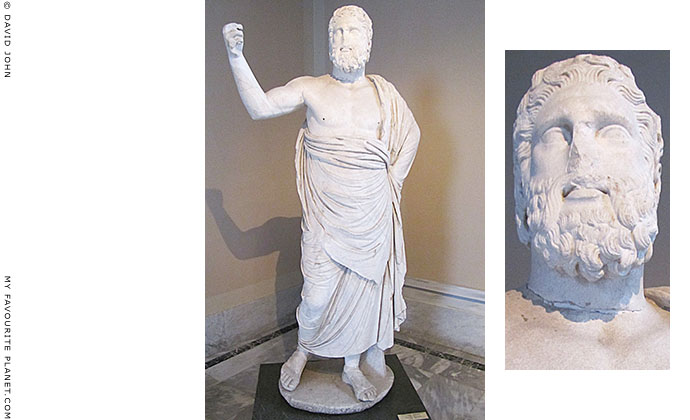 Statue of Zeus Ammon, from Pergamon, in the Istanbul Archaeological Museum, Turkey at My Favourite Planet