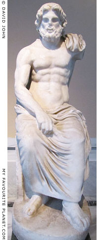 Marble statue of seated Zeus from Demirci at My Favourite Planet