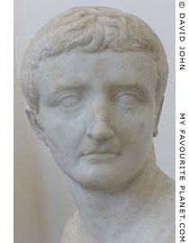 Marble bust of Emperor Tiberius at My Favourite Planet