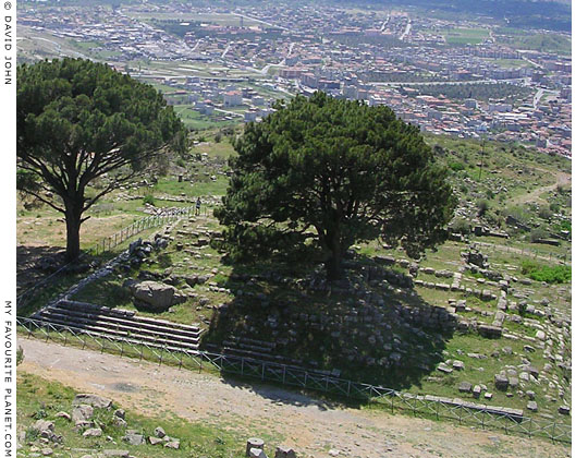 The site of the Great Altar of Zeus, Pergamon Acropolis, Turkey at My Favourite Planet