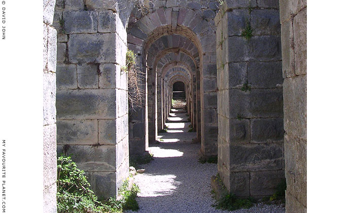 One of the arched tunnels beneath the Temple of Trajan on the Pergamon Acropolis, Turkey at My Favourite Planet