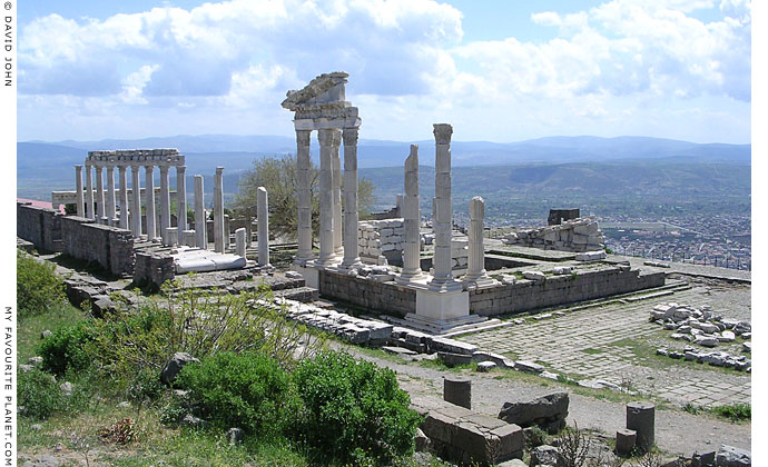 The Temple of Trajan in the Trajaneum of the Pergamon Acropolis, Turkey at My Favourite Planet
