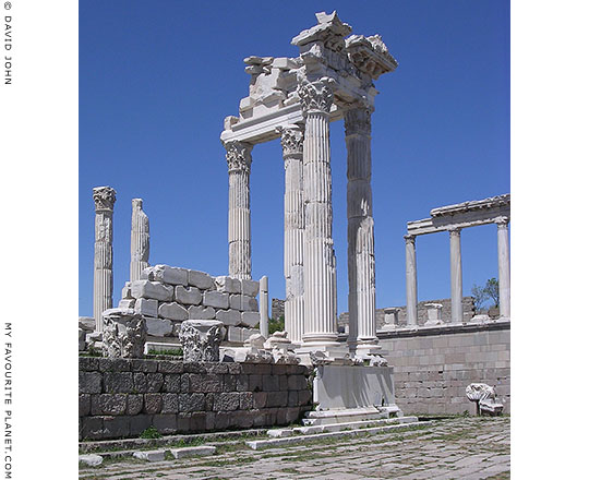 Remains of the east portico of the Trajan Temple, the Pergamon Acropolis, Turkey at My Favourite Planet
