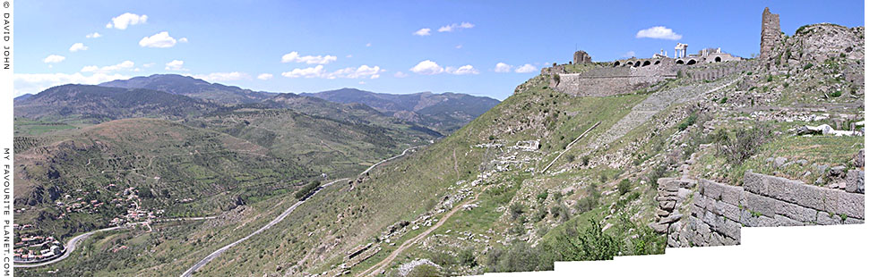Panoramic view northwards over the Selinus valley from the Pergamon Acropolis, Turkey at My Favourite Planet