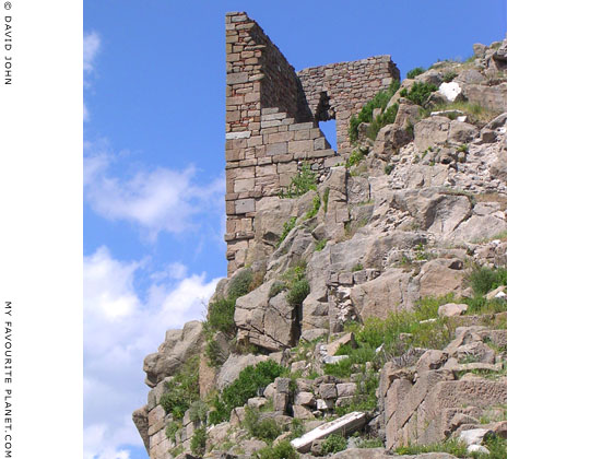 The Byzantine tower above the theatre, Pergamon Acropolis, Turkey at My Favourite Planet