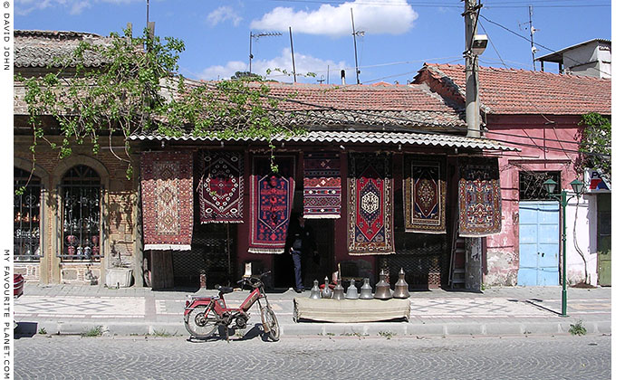 Carpet shop, Bergama, Turkey at My Favourite Planet