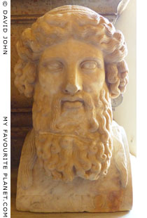 Herm of a bearded divinity in Rome at My Favourite Planet