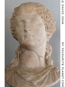 Bust of Agrippina Maggiore in the Capitoline Museums, Rome at My Favourite Planet