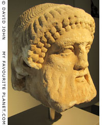 Head of a Hermes herm from Thasos, Greece at My Favourite Planet