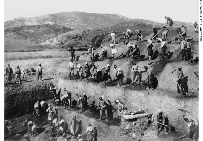 Excavation work at the Artemision, Ephesus in 1895 at My Favourite Planet