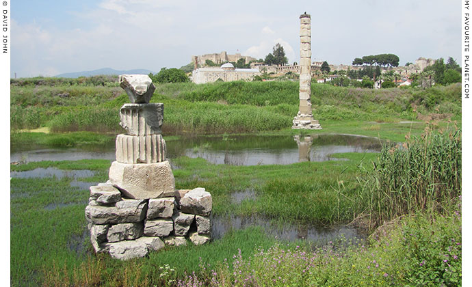 The ruins of the Temple of Artemis, Ephesus, Selcuk, Turkey at My Favourite Planet