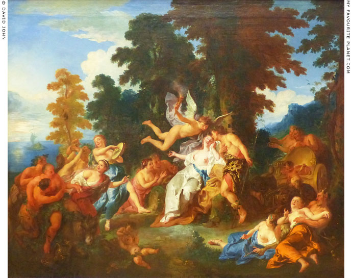 Painting of Dionysus and Ariadne by Jean Francois de Troy at My Favourite Planet