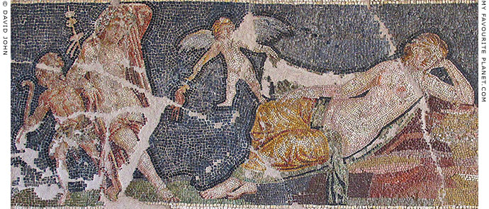 Detail of the Sleeping Ariadne mosaic at My Favourite Planet