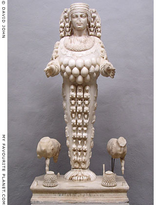 Statue of the goddess Artemis Ephesia, Ephesus Archaeological Museum, Selçuk, Turkey at My Favourite Planet