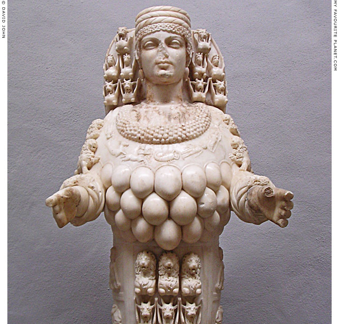 Close-up of the Beautiful Artemis Ephesia statue, Ephesus Archaeological Museum, Selçuk, Turkey at My Favourite Planet