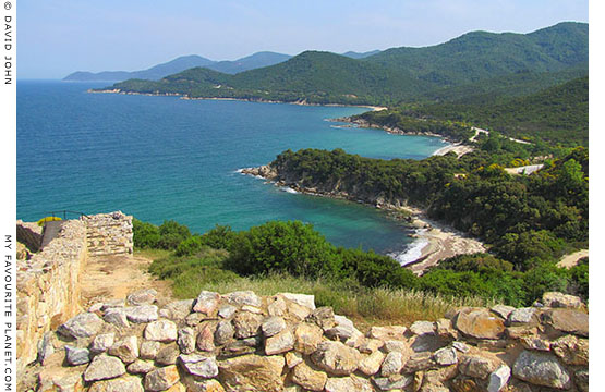 The view from the acropolis of ancient city of Stageira along the east coast of Halkidiki, Macedonia, Greece at My Favourite Planet