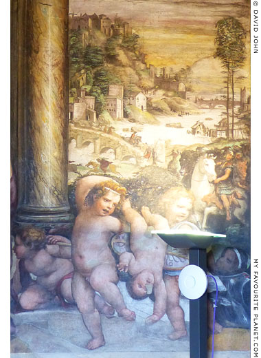 The cupids and landscape on the right side of Sodaoma's fresco at My Favourite Planet